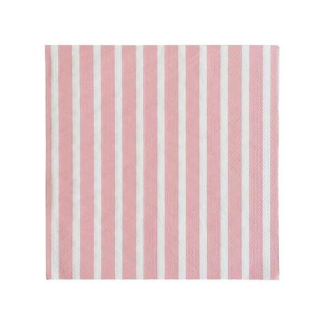 servetten roze streep